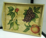 Decoupage Tray with Fruit