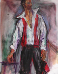 Man with Red Scarf by Halcyone Bohen