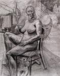 Female Nude with Dog by Kavita Gadani