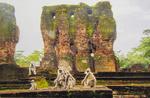 Family at Polonnaruwa