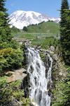 Mount Rainier Waterfall by Ruth Bueter