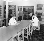Interns Studying in the Medical Library