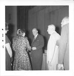 Dr. John L. Parks Greeting Guests and an Event, ca. 1960s