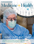 Medicine + Health, Fall 2014 by George Washington University, School of Medicine and Health Sciences, Office of Communications and Marketing