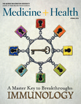 Medicine + Health Magazine, Spring 2016 by George Washington University, School of Medicine and Health Sciences, Office of Communications and Marketing